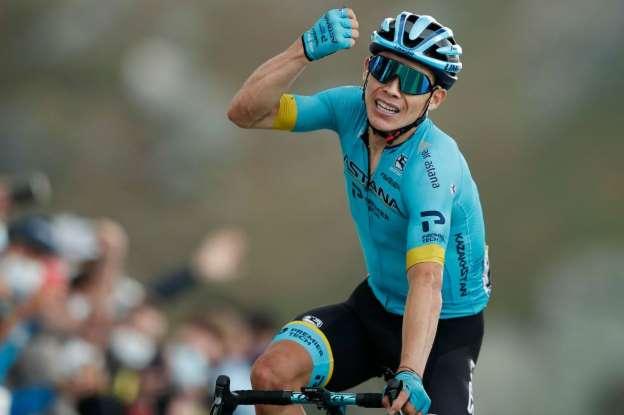 © Agencia AFP El boyacense Miguel Ángel López se impuso en la etapa 17 del Tour de Francia y ascendió al tercer puesto de la clasificación.